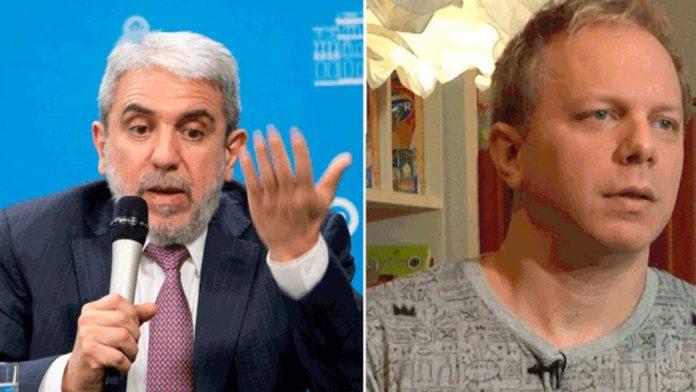 Aníbal Fernández, ministro de Seguridad de la Nación, y el humorista Nik.